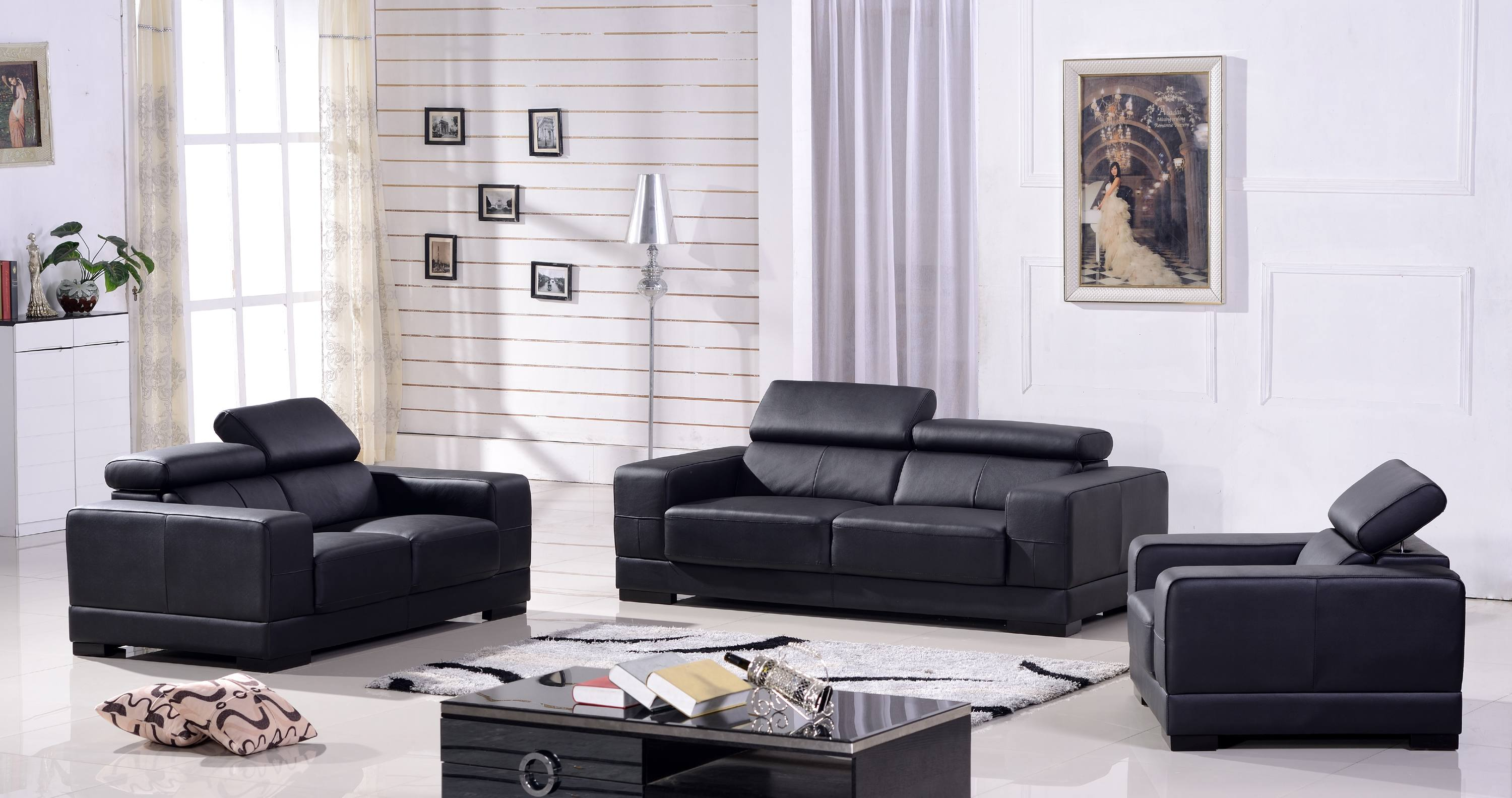 ledersofa 3 2 1 sofa couch sitzgarnitur sofas sitzgruppe 2017 3 2 1 s ebay. Black Bedroom Furniture Sets. Home Design Ideas