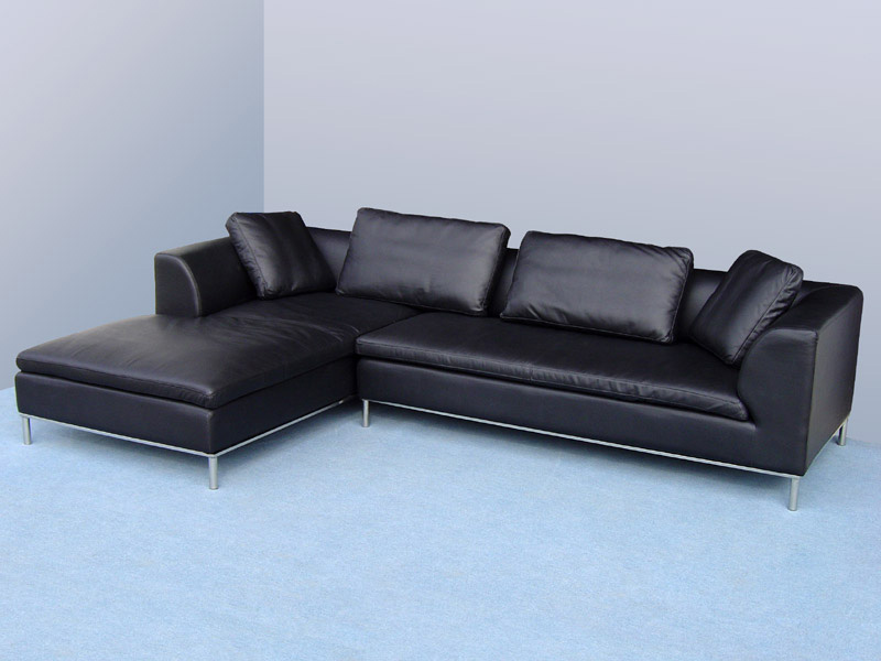 design ledergarnituren ledersofa voll leder ecksofa sofa garnitur eckcouch 299 l ebay. Black Bedroom Furniture Sets. Home Design Ideas