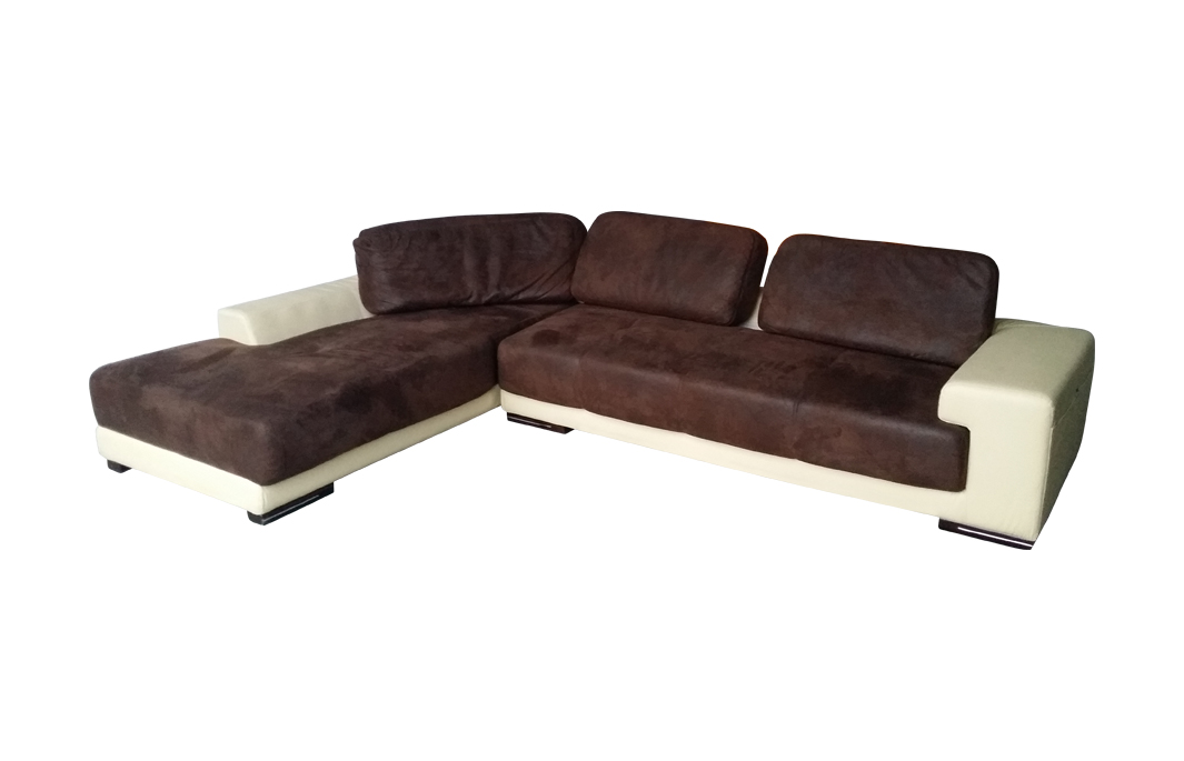 wildleder optik ecksofa sofa mikrofaser garnitur 5042 l pu419 ausstellung sofort ebay. Black Bedroom Furniture Sets. Home Design Ideas