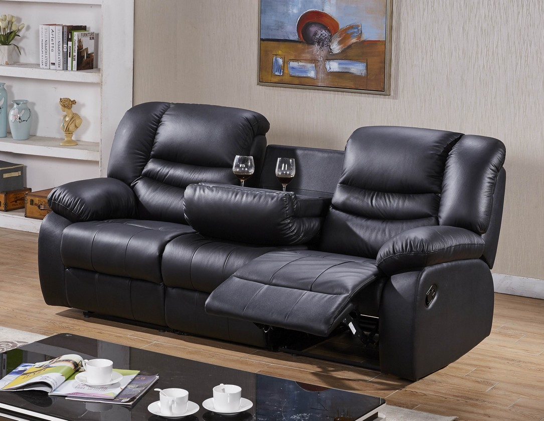 voll leder fernsehsessel relaxsofa sofa relaxsessel mit tisch 5116 3 s ebay. Black Bedroom Furniture Sets. Home Design Ideas