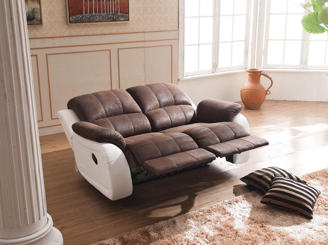 microfaser relax sofa garnitur polsterm bel relaxsessel fernseh sessel 5129 2pu ebay. Black Bedroom Furniture Sets. Home Design Ideas