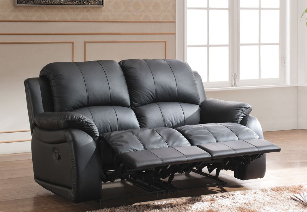 voll leder tv sofa schlafsofa relaxsessel fernsehsessel 5129 3 2 1 s ebay. Black Bedroom Furniture Sets. Home Design Ideas