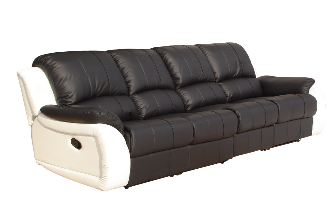 voll leder 4er couch sofa relaxsessel relaxsofa fernsehsessel 5129 4 sw ebay. Black Bedroom Furniture Sets. Home Design Ideas
