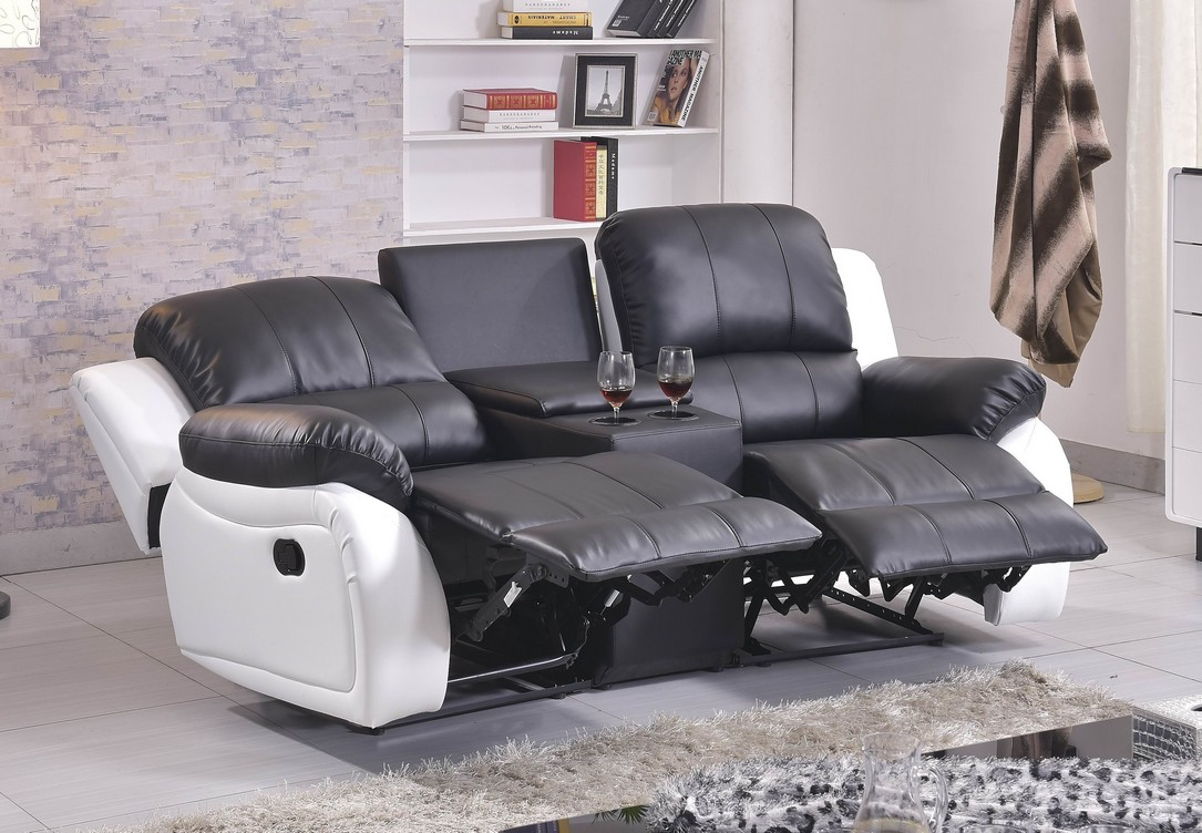 ledersofa kinosofa relaxcouch fernsehsofa recliner heimkino 5129 cup 2 sw sofort ebay. Black Bedroom Furniture Sets. Home Design Ideas