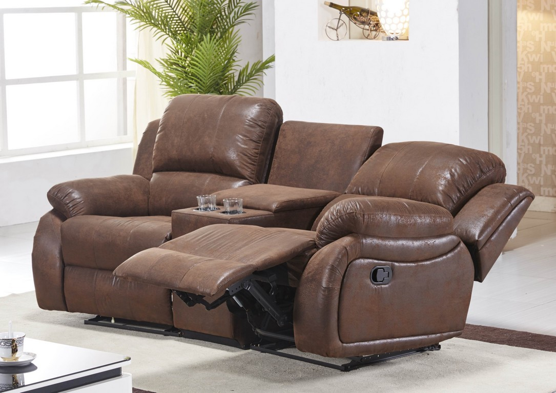 mikrofaser sofa kinosofa relaxcouch fernsehsofa heimkino 5129 cup 2 vf03 ebay. Black Bedroom Furniture Sets. Home Design Ideas