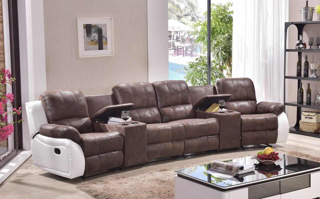 sofa kinosofa relaxcouch fernsehsofa recliner heimkino 5129 cup 42 pu ebay. Black Bedroom Furniture Sets. Home Design Ideas