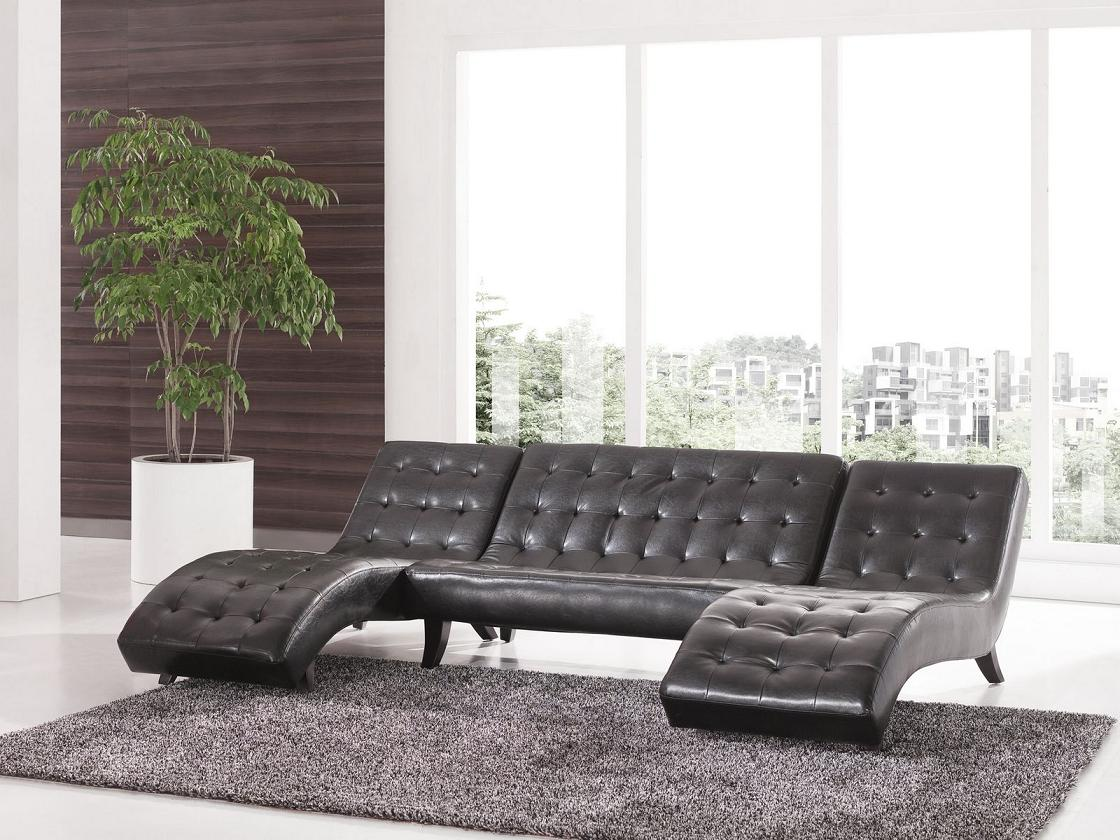 leder look doppel liege relaxliegen recamiere chaiselongue 515 u ll s. Black Bedroom Furniture Sets. Home Design Ideas