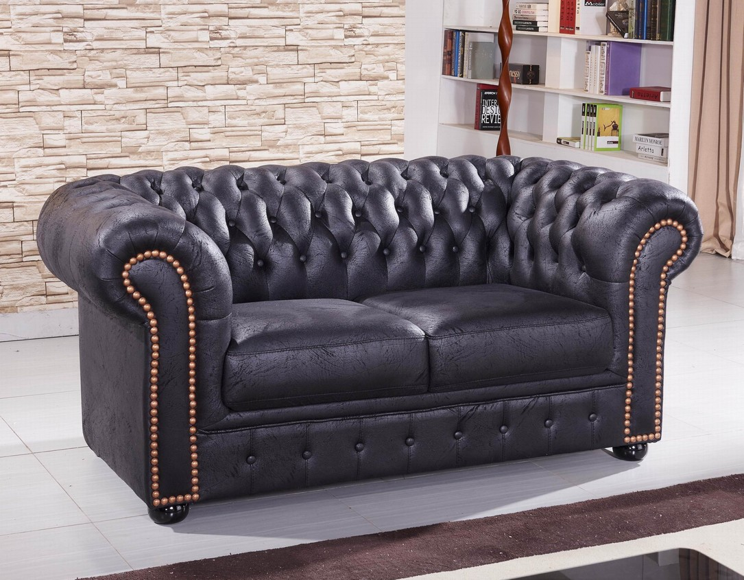 chesterfield mikrofasersofa couch chester 3 2 1 ms sofort. Black Bedroom Furniture Sets. Home Design Ideas