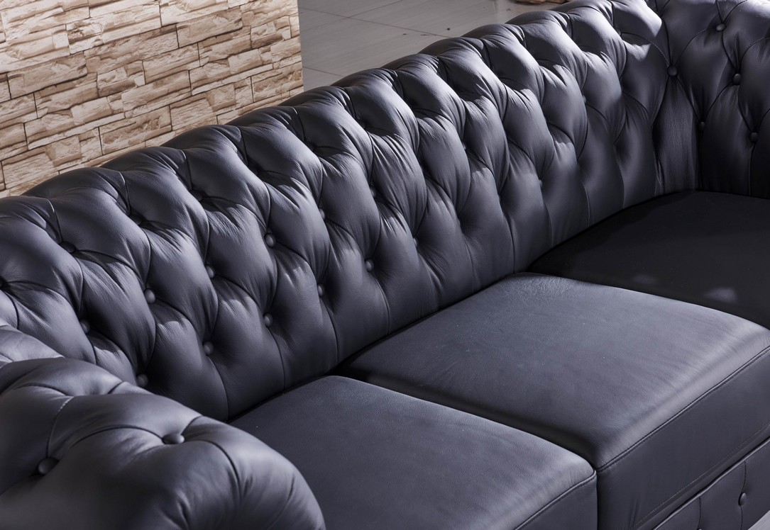 chesterfield ledersofa couch chester 3 2 1 s ebay. Black Bedroom Furniture Sets. Home Design Ideas