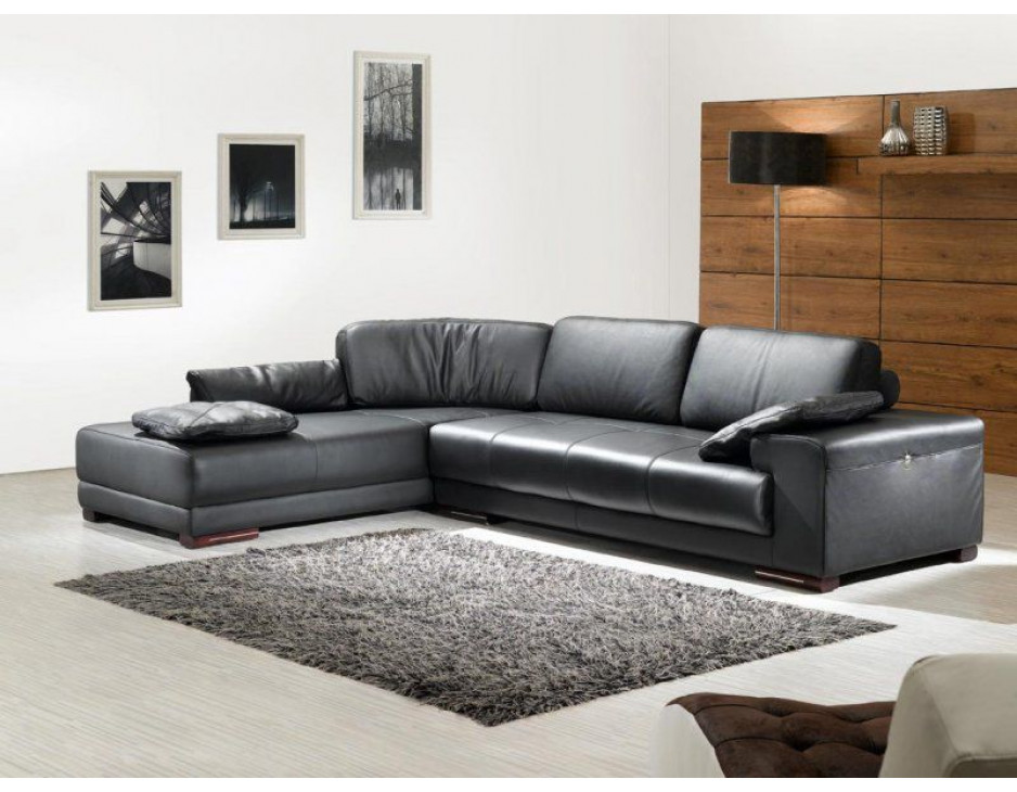 schwarze eckgarnitur mit federkern 5042 ls mapo m bel. Black Bedroom Furniture Sets. Home Design Ideas