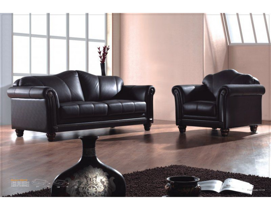 leder sofas mit federkern modell 278 3 1 mapo m bel. Black Bedroom Furniture Sets. Home Design Ideas
