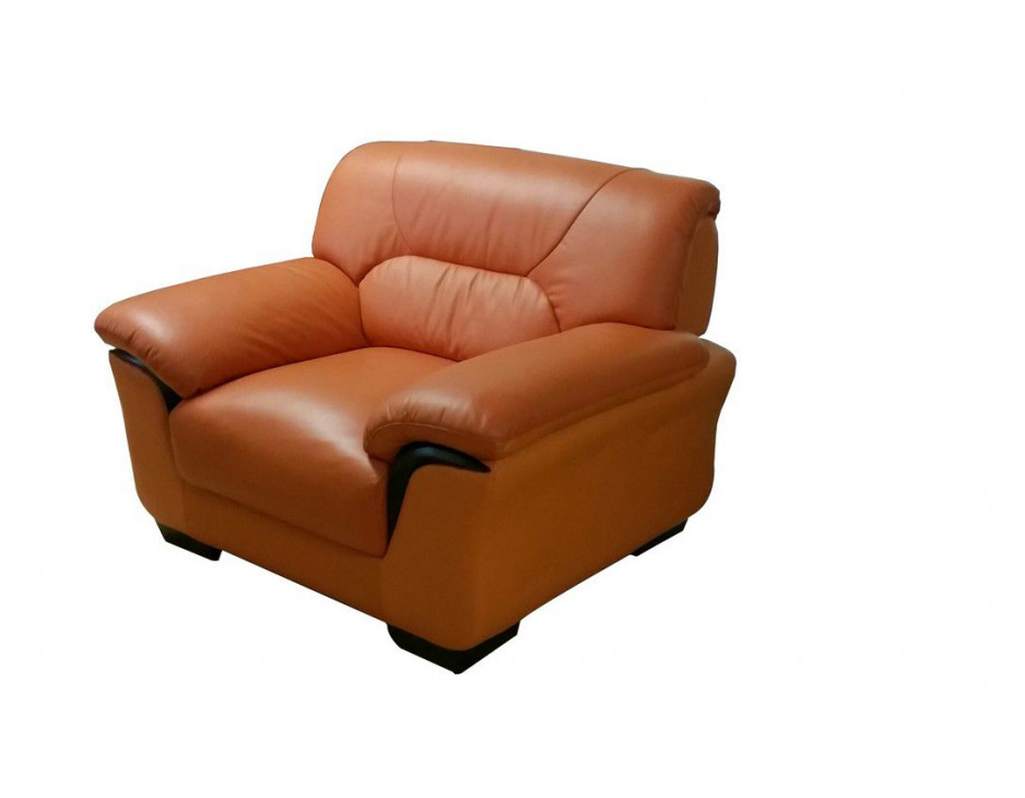 Ledersessel in terracotta mit federkern mapo m bel for Ecksofa terracotta