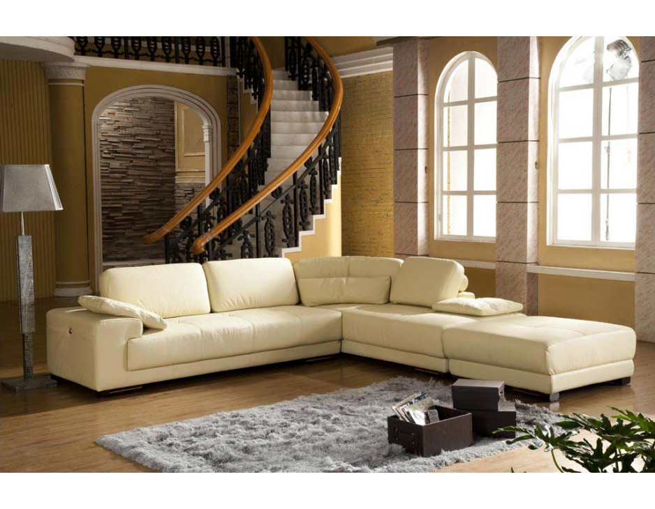 ecksofa beige mit federkern 5042rromh mapo m bel. Black Bedroom Furniture Sets. Home Design Ideas