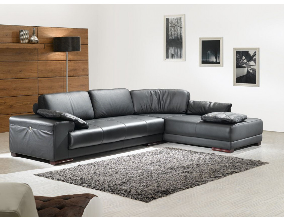 ecksofa federkern in schwarz mapo m bel. Black Bedroom Furniture Sets. Home Design Ideas