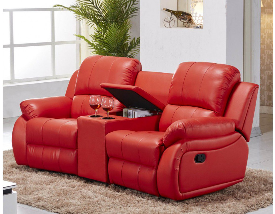 leder fernsehsofa kinosofa in rot mapo m bel. Black Bedroom Furniture Sets. Home Design Ideas