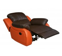 Ledersessel in braun-orange 5129-1-377-477