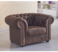 brauner Mikrofaser Sessel Chesterfield-1-VF03