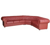 Bordo Eckgarnitur mit Federkern Chesterfield-206 340cmx250cm sofort