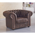 braune Mikrofaser Sofagarnitur Chesterfield-3+1-VF03 sofort