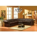 Bordeaux Eckgarnitur mit Federkern Chesterfield-L-206 290cmx250cm sofort